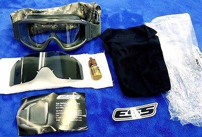 NEW!! ESS PROFILE TACTICAL GOGGLES Kit, FOLIAGE w/ACU DIGI, Tint & Clear Lens