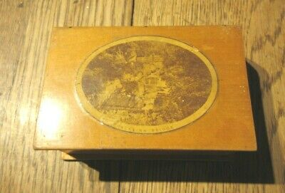 ANTIQUE MAUCHLINE  BOX BOOK FORM BRACKLINN BRIDGE