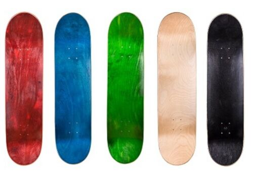 """Cal 7 7.75"""" Skateboard Deck Blank Maple , Black, Red, Green , Nature, Red Colors"""