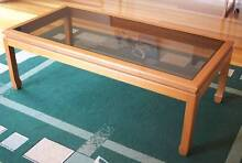 Gorgeous glass and wooden coffee table - homeware, furniture Strathfield Strathfield Area Preview