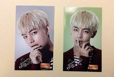 BTS Bangtan Boys BBQ Chicken Official PhotoCard Photo Card Kpop - V Set