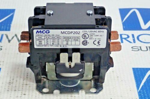MCG MCDP202 DEFINITE PURPOSE CONTACTOR 2 POLE COIL 120VAC 60Hz