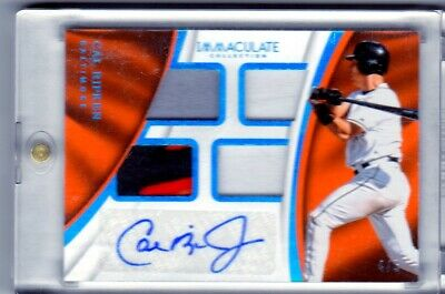 2017 IMMACULATE CAL RIPKEN Jr. QUAD JERSEY PATCH AUTOGRAPH SSP #4/5