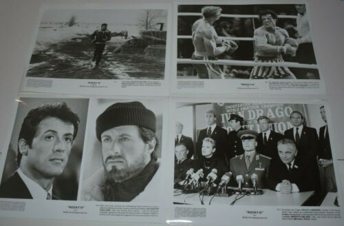 1985 ROCKY IV Movie Press 8x10 Promo Photograph  28 photos stallone
