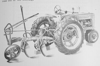 Ih Farmall Hm-150 2-3 Pan Disc Turning Plow Owners Parts Manual H M Super M Md