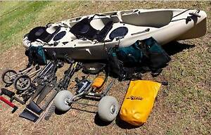 HOBIE 'MIRAGE OUTFITTER' TANDEM KAYAK with LOADS OF EXTRAS Wilberforce Hawkesbury Area Preview