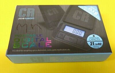 New Cr Jds-m600 0.01g 600g Portable Pocket Digital Jewelry Weighing Scale