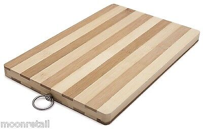 BAMBOO WOODEN CHOPPING BOARD Wood Kitchen Food Cooking Cutting Dicing Worktop