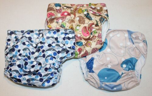 lot of 3 cloth diaper covers Alva Baby Simple Being Ka Waii Baby
