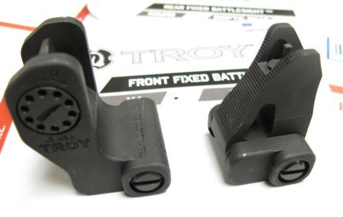 Troy Battle Sight Set - Front & Rear Fixed - Black- Factory Original