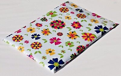 1000 10x13 Bright Botanical Designed Blooming Flowers Poly Mailers Shipping Bags Brightness 1000 Envelopes