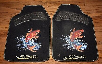 Pair of Auto Expressions Ed Hardy By Christian Audigier Floormats FREE Shipping!