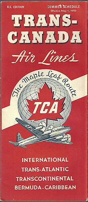Trans Canada Air Lines System Timetable 5 1 50  7071