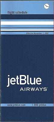 Jetblue Airways System Timetable 11 1 02  6061   Buy 4  Save 50