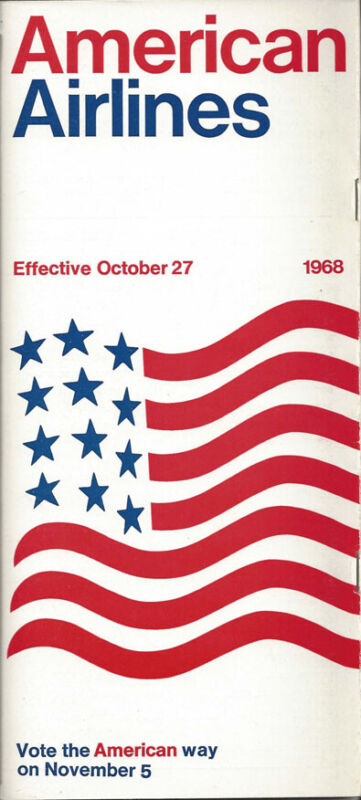 American Airlines system timetable 10/27/68 [0098]