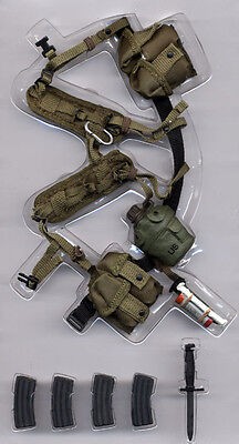 """1/6 U.S. Military action figure tactical """"H"""" Harness strap and acc.(REG-21069P)"""