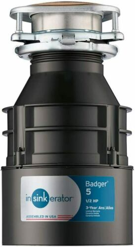 InSinkErator Garbage Disposal, Badger 5, 1/2 HP Continuous Feed,Black