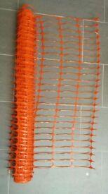 Orange safety fencing / netting