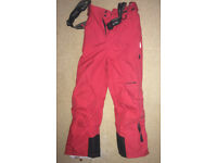 Trespass salopettes, excellent condition, 7/8 year old, red/black