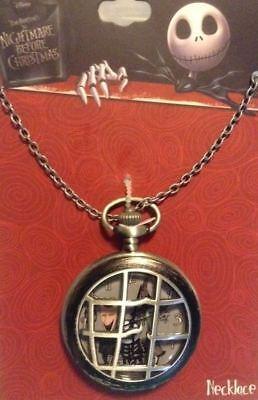 Disney The Nightmare Before Christmas Lock Shock & Barrel Pocket Watch Necklace