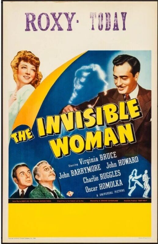 The Invisible Woman (Universal, 1940). Very Fine-. Window Card. 14 X 22. Horror