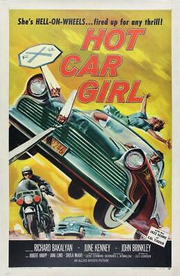 Vintage Hot Car Girl Movie Poster// Classic Movie Poster//Movie Poster//Poster R - Girl Hot Movies