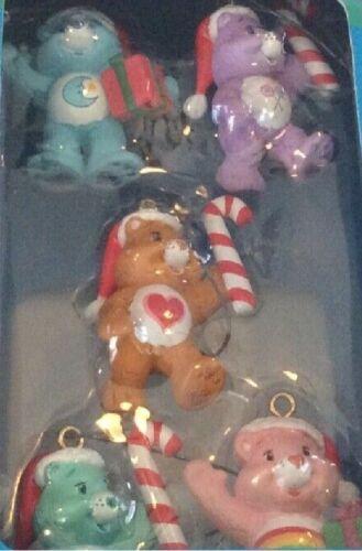 5 Care Bears 2006 Ornaments in 2002 Carlton Tin