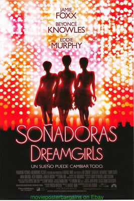 DREAMGIRLS MOVIE POSTER ORIGINAL 27x40 BEAUTIFUL SPAN. INTERNATIONAL DIFF. ART!!