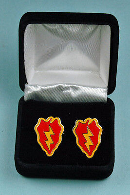 25th Infantry Division Army Cuff Links in Presentation Gift Box USA Cufflinks