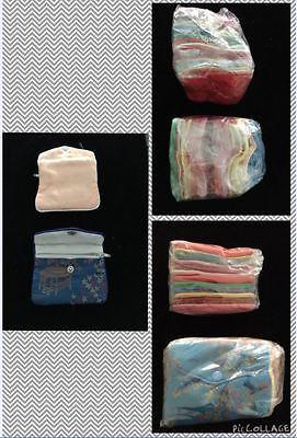 Silk Jewelry Zipper Snap Pouch Assorted Colors One Dozen - 3 12 X 3