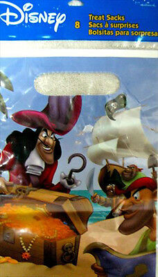 CAPTAIN HOOK and PETER PAN FAVOR BAGS (8) - Peter Pan Party Supplies