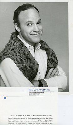 LOUIS GIAMBALVO SMILING PORTRAIT OH MADELINE ORIGINAL 1982 ABC TV PHOTO
