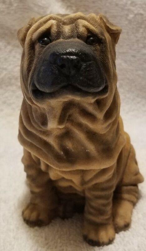 1988 Castagna Shar Pei Dog Figurine Italy--Lots of Wrinkles