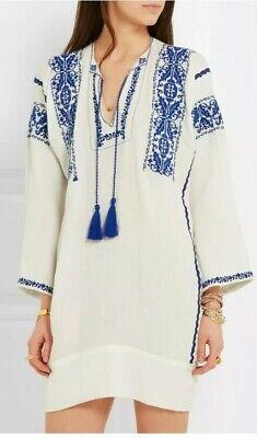 ISABEL MARANT ETOILE Vinny Embroidered Dress Tunic Net a Porter 40 8-12 Boho