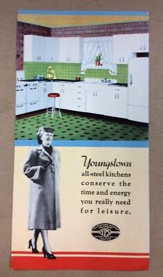 1940 Youngstown Pressed Steel Kitchen Brochure  1950s FREE SHIPPING  INV-B16