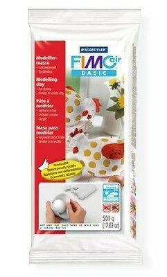 STAEDTLER FIMO AIR BASIC - AIR DRYING MODELLING CLAY (500g) - WHITE
