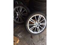 """Bmw 18"""" alloys wheels x2 for sale"""