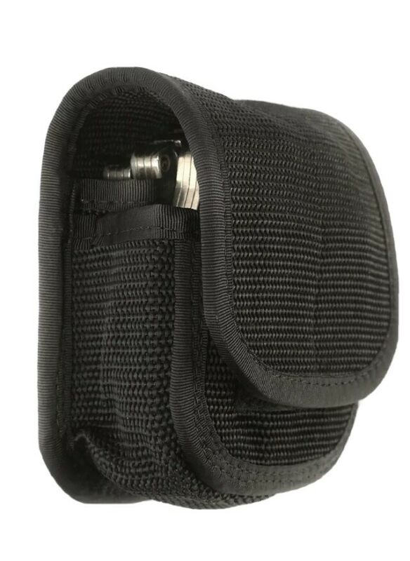 Law Enforcement Black Double Handcuff Cuff Case Pouch