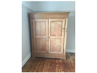 Antique Large Wardrobe Solid Wood