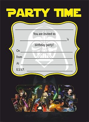 Packs of 10/20/30/40 Star Wars Invitations - posters cards banners