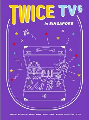 """K-POP TWICE """"TWICE TV6 IN SINGAPORE"""" OFFICIAL LIMITED PHOTOBOOK + DVD"""