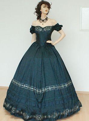 Westernkleid Biedermeierkleid Südstaatenkleid Krinolinenkleid Sissi Kleid KT221