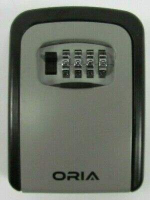 Oria Key Lock Box 4 Digit Combination Key Storage Lock Box Wall Mounted