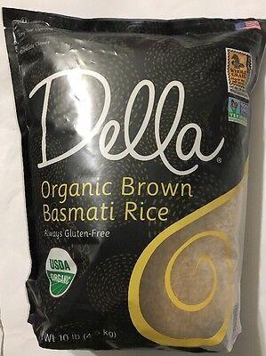 Della Organic Brown Basmati Rice Gluten-Free 10 Lbs ( FREE EXPEDITED SHIPPING)