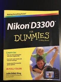 Nikon D3300 book for dummies