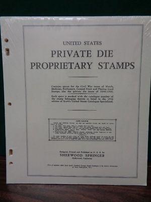 Us Private Die Proprietary Match Medicine Cards Stamp Album Pages Scott Springer