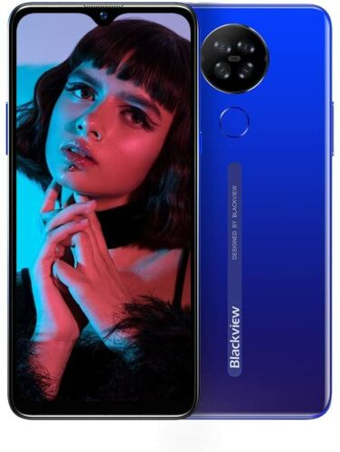 6,21 Zoll Blackview A80 Smartphone 4G Handy Android 10 Go 2GB RAM+16GB ROM Blau