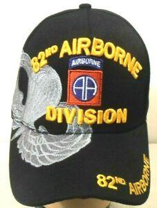 cd53e783115 MILITARY BALL CAP 82ND AIRBORNE ARMY HAT BLACK