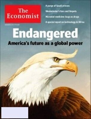 - THE ECONOMIST MAGAZINE NOV  11-17 2017 ENDANGERED AMERICA'S FUTURE AS A GLOBAL..