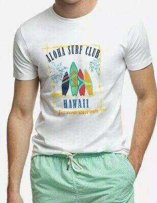 Alvaro Moreno Herren Surf Club T-Shirt, Aloha Hawaii Baumwolle T, Größe: Large